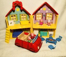 Peppa Pig House Loy Figures Talking Car George Accessories Furniture Set Toy