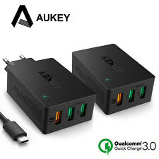 AUKEY 3 Port USB Wall Charger with Qualcomm Quick Charge 3.0 Technology