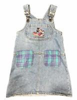 Disney Minnie Fruit Co. Mouse Overalls Blue Denim Sz 6