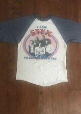 Vintage Styx I Saw Styx At The Paradise Theater Tour Shirt 1981