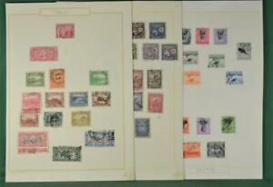 HAITI STAMPS SELECTION ON 6 ALBUM PAGES   (P105)