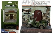 "JOHNNY LIGHTNING 1:64 WWII WILLYS MB JEEP & ""TO BASOGNE"" DISPLAY GREEN JLSP023"