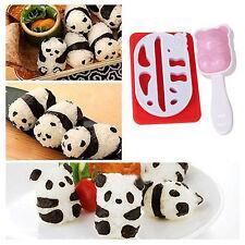 US Panda Shape Punch Sushi Rice Ball Mold Onigiri Mould Nori DIY Maker Bento