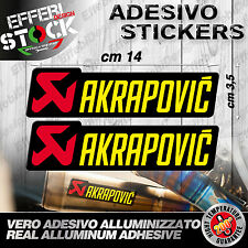 Adesivi / Sticker AKRAPOVIC 2Pz  HONDA SUZUKI KAWASAKI APRILIA KTM 200°