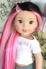 Furious Pink wig for Wellie Wisher - Heart 4 Heart - BJD doll - Paola Reina