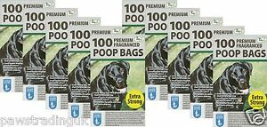 1000 Doggy Bags Scented Extra Strong Dog Cat Poo Waste Toilet Pet Bag Fragrance