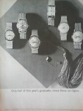 1962 Elgin Watch Graduation Cap Original Print Ad