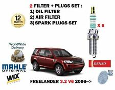 FOR LAND ROVER FREELANDER 2 3.2 V6 2006-> OIL AIR FILTER KIT + SPARK PLUGS SET