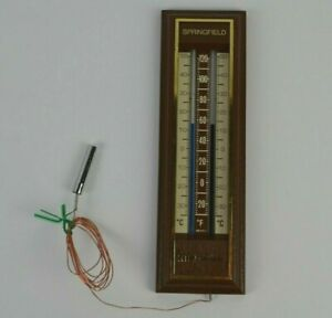 Vintage Springfield Indoor Outdoor Thermometer Excellent Unused Condition