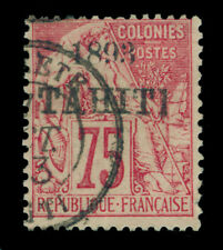 French Colonies - TAHITI 1893  Peace & Commerce  75c rose  Scott# 27 used VF