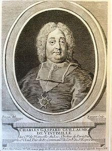 Charles Gaspard Guillaume de Vintimille du Luc évêque Provence gravure XVIIIème