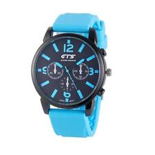 Luxury Men's Watch Silicone Sport Watch Stainless Steel Analog Quartz Wristwatch