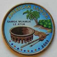 """2009 USA """"American Samoa"""" Quarter Dollar Coin  KM#448  SB5993"""