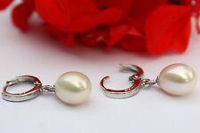 YR062 Süßwasser Perlen Schmuck Ohrringe Ohrstecker 925 Silber Creolen Ohrschmuck