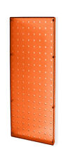 "Count of 2 New Orange Molded Plastic Pegboard 8"" Width x 20"" High Wall Panels"