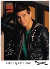 Luke Bilyk Signed Autographed 8 1/2 x 11 Photo Canadian Actor Degrassi Drew