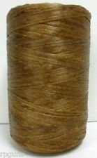 BROWN craft artificial SINEW / Sinue leather thread beading crafts basket weave
