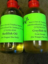 4oz Crayfish oil and or Shellfish oil Qty 2ea traps trap trapping Qty 2