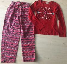 Shyanne wrangler western aztec horse red pajama set PJs S