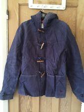 """Jack Wills Wash Blue Duffle Unisex Hooded Jacket Size M AtoA22"""" L28"""" BNWT *C1"""