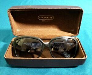 COACH Sunglasses Scarlet Tortoise S809 Designer Silver Heart Artistic Studs