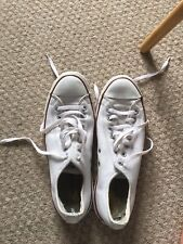 Converse All Stars White Leather Size 9 Men's / Size 11 Women's Trainers