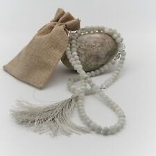 MoonStone and Crystal Mala beads, 108 necklace, mala tassel necklace