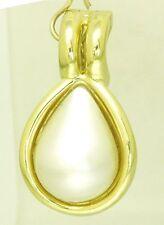 Ausgefallene Perlen Anhänger 585 er Gold Klips in Tropfen Form Unikat Handarbeit