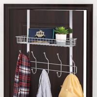 Nandae Over The Door 5 Hook Shelf Organizer Hanger With Mesh Basket Storage Rack