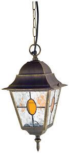 Bronze Traditional Hanging Chain Lantern Ootdoor Porch Traditional Lantern
