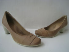"ECCO SCULPTURED 65 LATTE LEATHER PUMPS 3"" HEELS  US 9-9.5 EUR 40 HOT UNIQUE WOW"