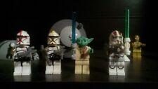 4 Custom Star Wars Minifigures!Yoda and 3 Custom clone troopers Comp Lego