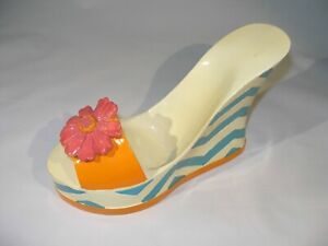 """Lady's Colorful Shoe """"Wine Bottle"""" Holder Fun Look for Your Bar!"""