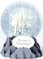 Holiday Snowflakes Snow Globe Pop Up - Up With Paper Christmas Card