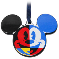 Disney World 2021 Mickey & Friends Ceramic Disc Holiday Christmas Ornament  NEW