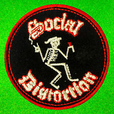Social Distortion Skeleton Punk Rock Monster Mommy Embroidered Iron On Patches