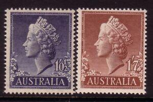 AUSTRALIA....  1955  1/0½d, 1/7  QE11  mnh