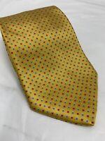 "Brioni Necktie Men's Tie Italy Yellow-Gold Hand-made Silk 60"" Long"