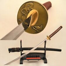 Japanese Samurai Sword Katana Battle Ready Full Tang Damascus Folded Steel Blade