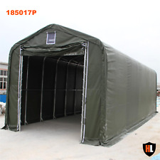 Hardlife Carport Tents - 18 x 50 x 17 ft. - Strong PVC/PE Fabric and Steel Frame