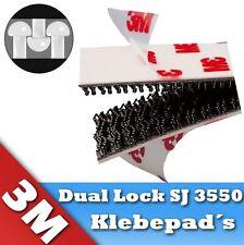 12 Stück 3M Dual Lock SJ 3550 Klettband Klebepad 25,4mm x 50mm * DAS ORIGINAL *