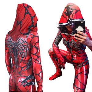 Venom Spider-Gwen Jumpsuit Lady Carnage Halloween Gwen Stacy Cosplay Costume