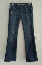 BULLHEAD Laguna BOOT CUT Jeans Sz 5 SHORT 28 X 28 DISTRESSED Cotton Blend