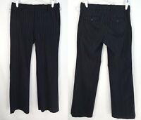 GAP Women's PANT Trouser Black Pinstripe Dress Pants SZ 4 R STRETCH CAREER WORK