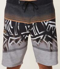 Pantalones cortos a rayas gris de poliéster para De hombre  9b315ab803be