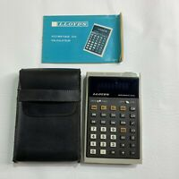 Lloyds Accumatic 334 Calculator Complete Cover & Instructions Handheld Vintage