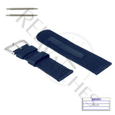 Genuine SEIKO 4A215JL 22mm Blue Nylon Band + Pins | SNZG11 Military Watch Strap