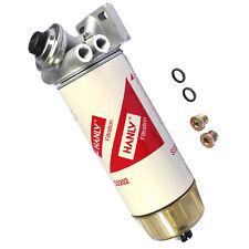 HANLV 30 Micron Diesel Fuel Filter Water Seperator Hand Primer Pump 3/8 NPT