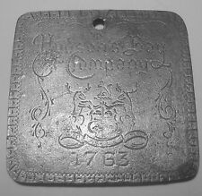 1763 HUDSON BAY FUR TRADE MEDAL TRINKET HB TOUCH MARK 1 Bale made Beavers