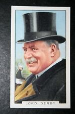 Horse Racing Attire  Top Hat    Lord Derby   Vintage Card  CAT A